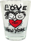 Love From New York Shot Glass (Pack of 12)