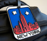 Red Skyline 3-D Luggage Tag (Pack of 6)