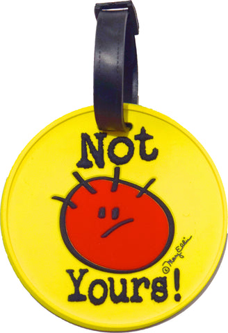 Not Yours 3-D Luggage Tag (Pack of 6)