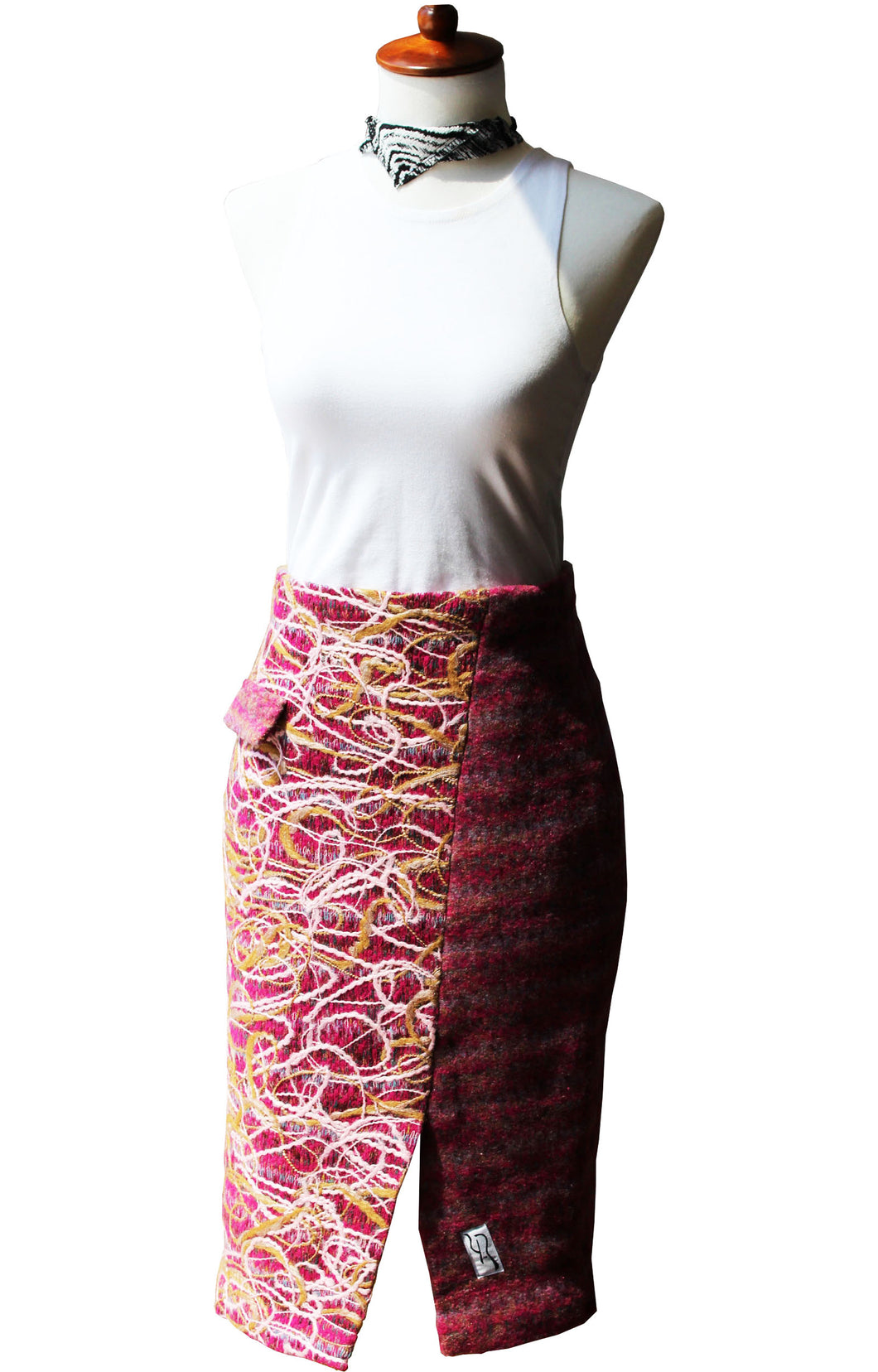 Rhubarb Fireworks Women's Pencil Skirt