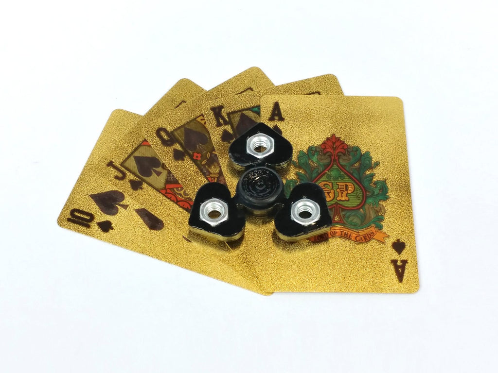 Poker Spinner - Mini Poker Themed Fidget Spinner Card Guards