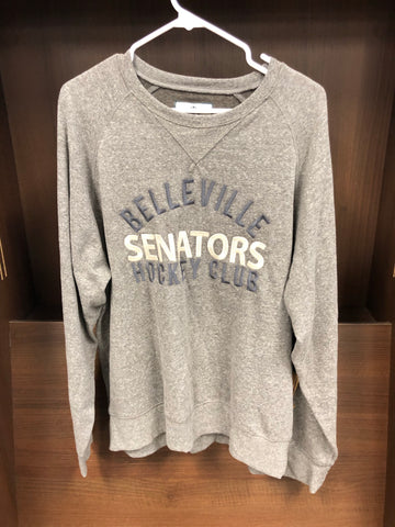 Senators Crew Neck Mens Charcoal Sweater