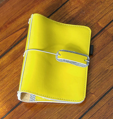 3-PO Version 2 CUSTOM leather traveler's notebook Pongo / A5 size