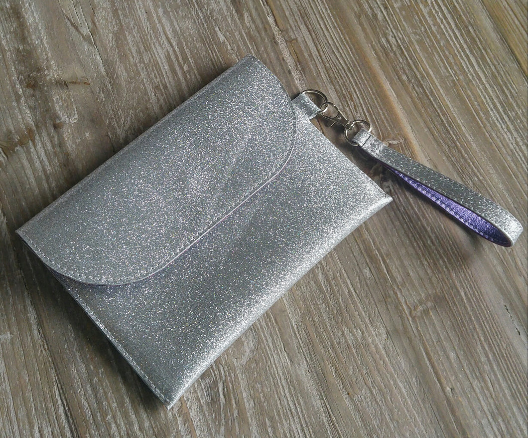 Glitter Bomb Clutch Leather Wristlet