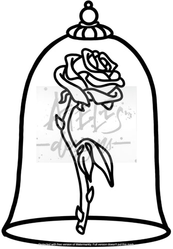Enchanted Rose Custom Cover Engraving