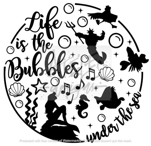 Life is the Bubbles Under the Sea Custom Cover Engraving