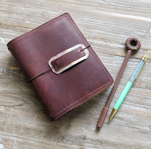 Longbottom Ready to Ship leather traveler's notebook cover Callicebus /  A6 size