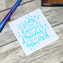 Stars and Dreams holo Vinyl Decal