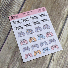 Video Game Time Sticker Sheet Ateles Designs & Pink Paper Cult