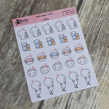 Health Variety Icons Sticker Sheet Ateles Designs & Pink Paper Cult