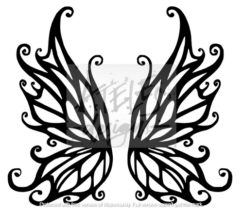 Fairy Wings Custom Cover Engraving