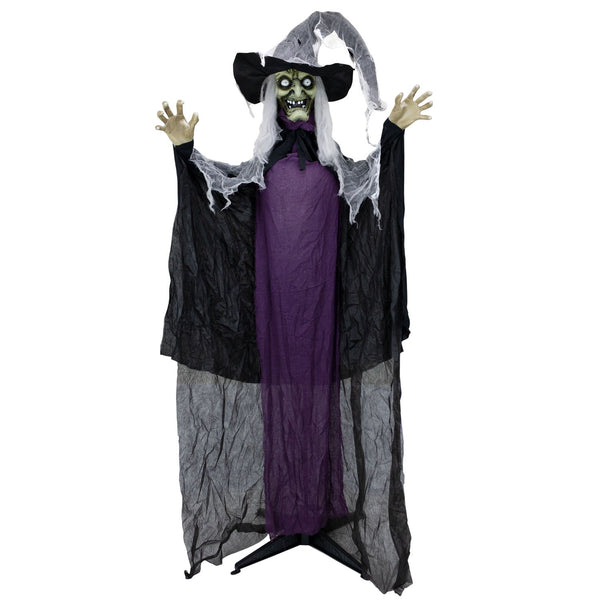 Front view Halloween Animatronics Witch with arms raised