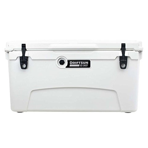Driftsun 75 Quart Ice Chest, Heavy Duty, High Performance Roto-Molded Commercial Grade Insulated Cooler, White