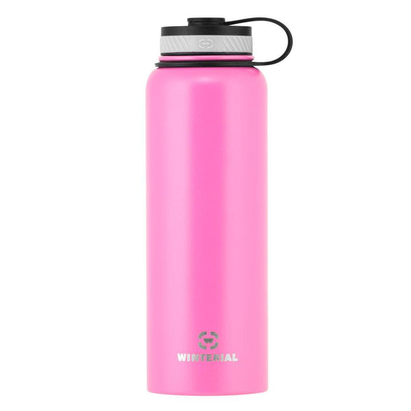 pink 40oz insulated water bottle