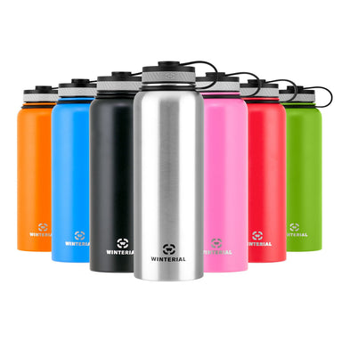 40oz insulated water bottles with carry handle in 7 colors