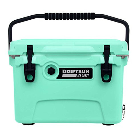 Driftsun 20qt Insulated Ice Chest - Heavy Duty, High Performance Roto-Molded Commercial Grade Cooler (Seafoam Green)