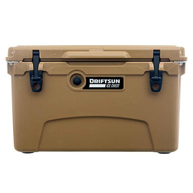 Driftsun 45-Quart Ice Chest, Heavy Duty, High Performance Roto-Molded Commercial Grade Insulated Cooler, Tan