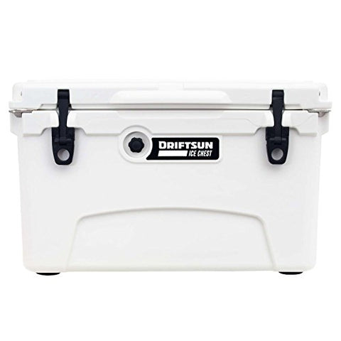 Driftsun 45-Quart Ice Chest, Heavy Duty, High Performance Roto-Molded Commercial Grade Insulated Cooler, White