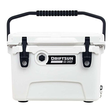 Driftsun 20-Quart Ice Chest, Heavy Duty, High Performance Roto-Molded Commercial Grade Insulated Cooler, White