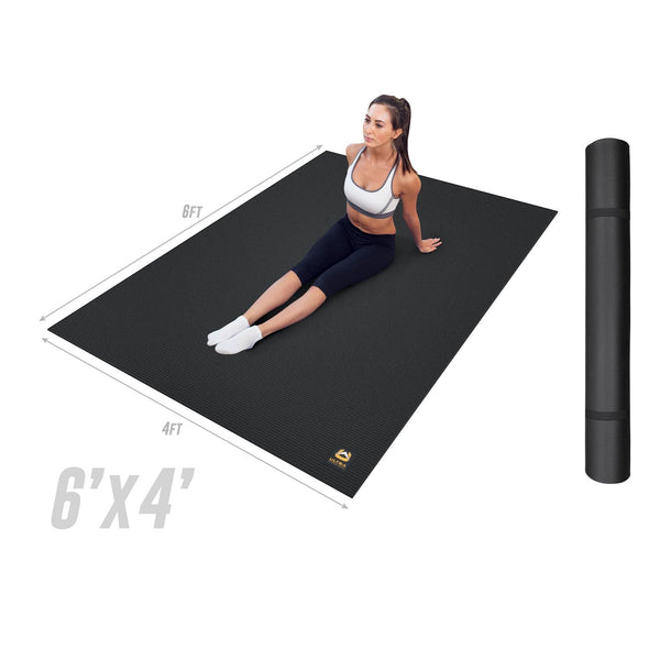 Ultra Fitness Gear Super Durable Exercise Work-Out Mat, Anti-Microbial Fitness Mat for Yoga, Weight Training & Stretching - Multiple Sizes