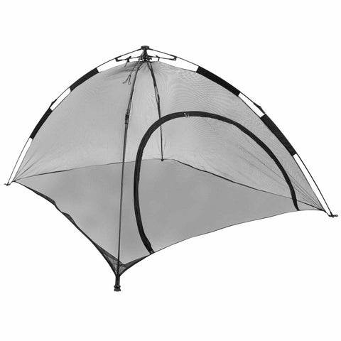 Angled view of cat tent