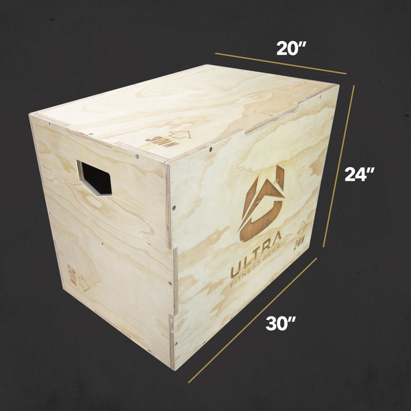Ultra fitness Gear Wood XL Plyo Box 30/24/20