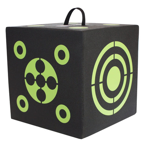 6-Sided Cube Archery Target With Self Healing XPE Foam
