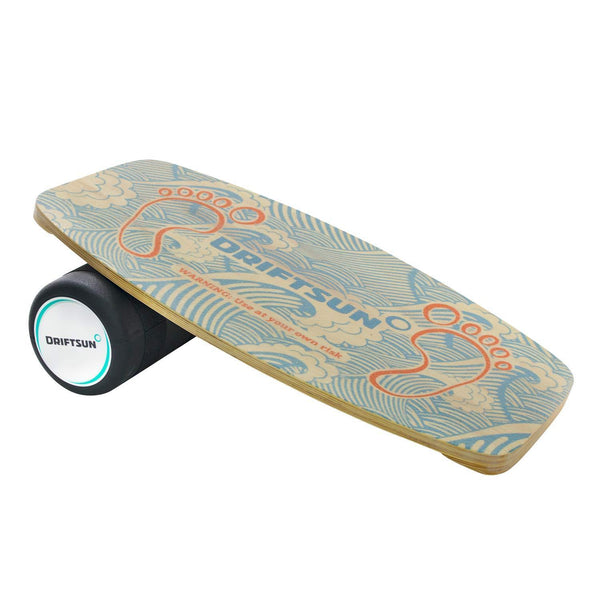 Top Side View of Classic Balance Board  with Roller