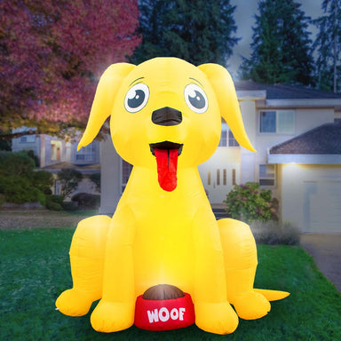 Inflatable Big Dog Decoration with Built in Fan and LED Lights