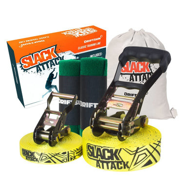 Complete view of Slack Attack 50 ft. Slackline - Complete Kit