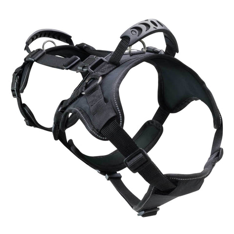 Heavy Duty Double Back Dog Harness I Canine Harness Equipment For Lifting & Transporting I Black, Medium