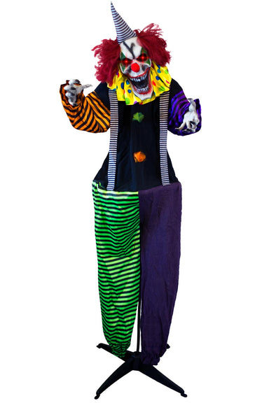 5ft 9in Animatronics Standing Evil Clown Prop Decoration