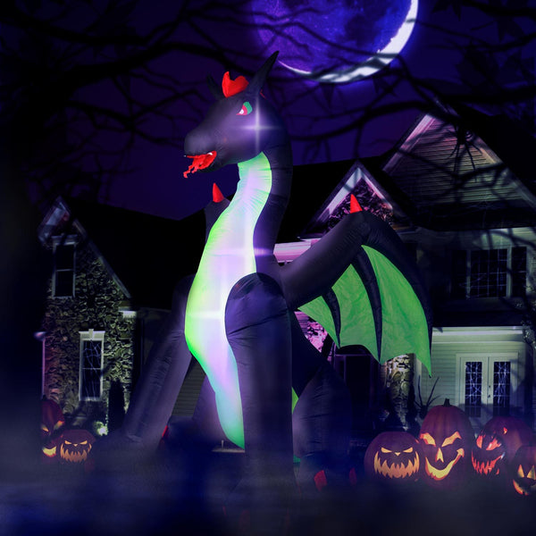 9ft Inflatable Halloween Dragon