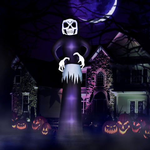 9 ft Black Reaper Ghost Halloween Inflatable