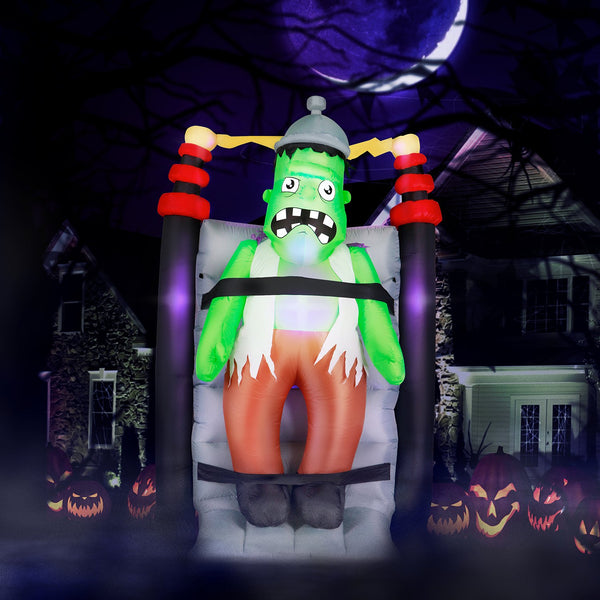 7 ft Shaking Electrified Monster Experiment Halloween Inflatable