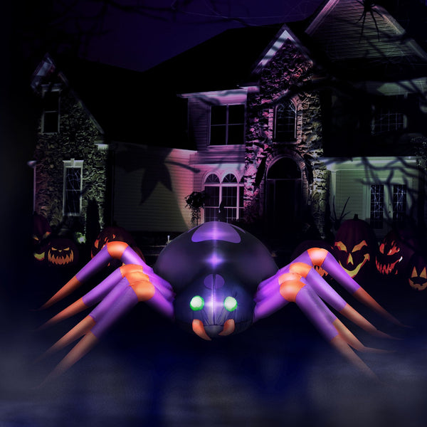 8 ft Long Creepy Crawly Spider Halloween Inflatable