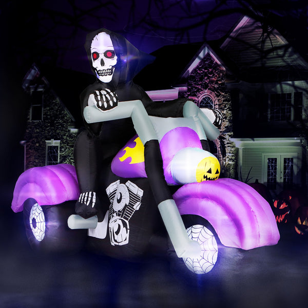 8 ft Long Reaper on Trike Chopper Halloween Inflatable