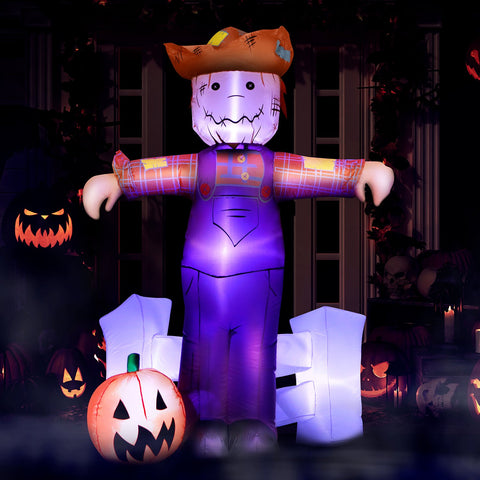 6 ft Festive Scarecrow with Jack O' Lantern Halloween Inflatable