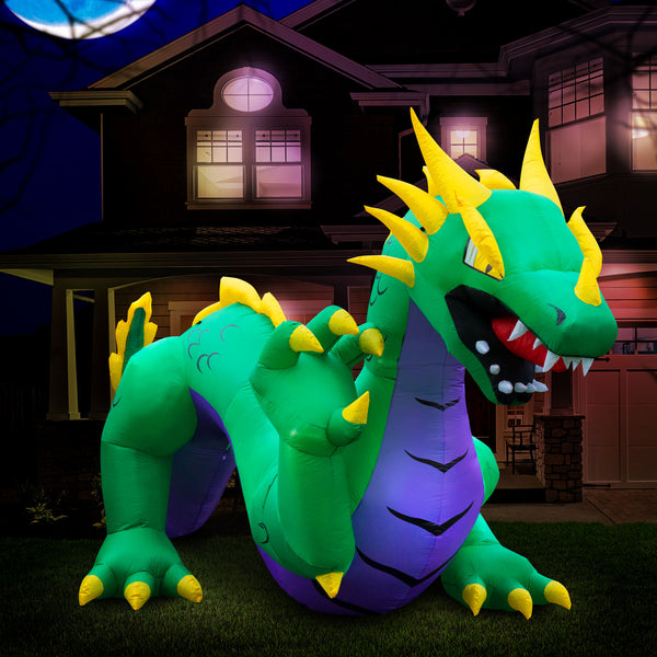 15 ft Inflatable Halloween Serpent Dragon Yard Decoration