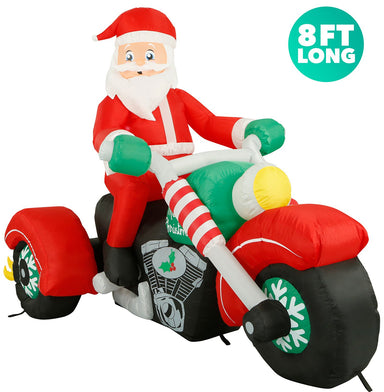 Santa on a Motorcycle front view