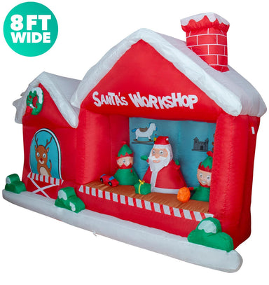 8 ft wide Santa Workshop