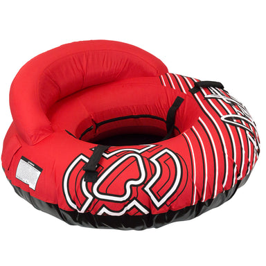 Winterial Deluxe Snow Tube with Back Rest and Carry Strap - Red