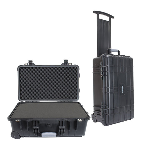 22 Inch PISTOL HARD ROLLING GUN CASE- TSA APPROVED: CRUSH RESISTANT & WATERPROOF