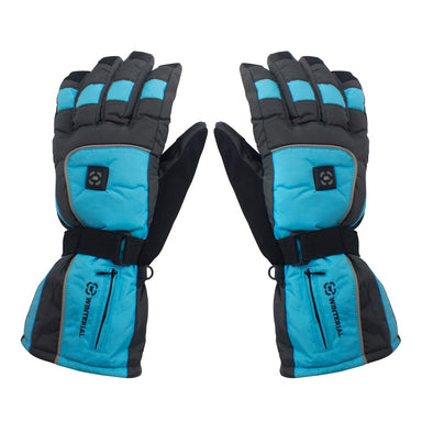 Winterial Heated Snow Gloves Blue Medium