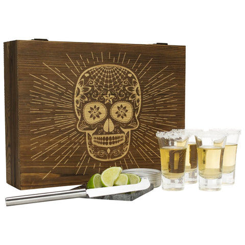 Wood Tequila Box Set