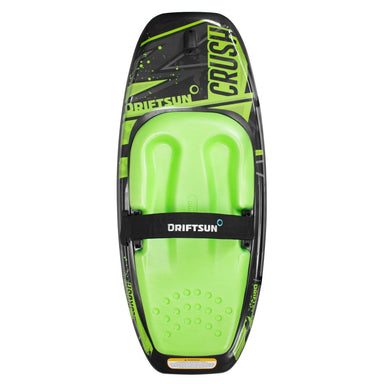 driftsun kneeboard with green EVA pad and graphics