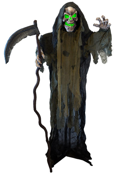 5ft 1in Animated Standing Grim Reaper with Scythe Prop Decoration