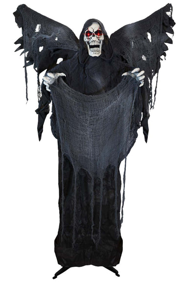 5ft 2in Animatronic Standing Reaper with Wings Prop Decoration