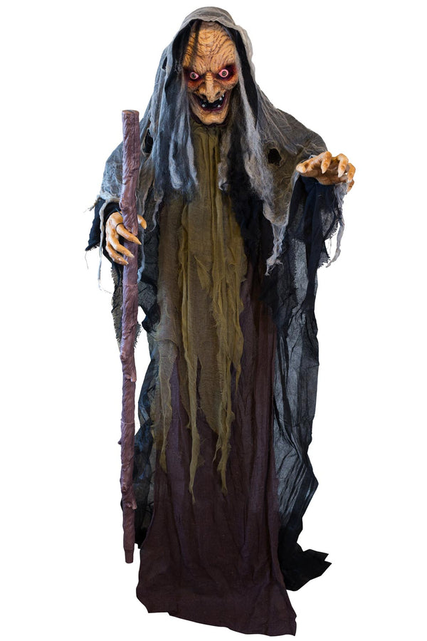 5ft 2in Animated Standing Evil WItch Prop Decoration