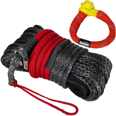 front view Winch Line and Nylon Soft Shackle